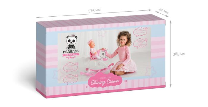 Размеры упаковки Розовый единорог